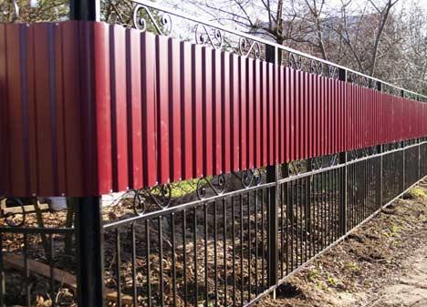 забор комбинированный фото