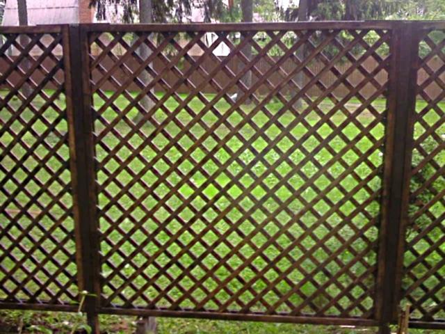 Как сделать забор решетка самому