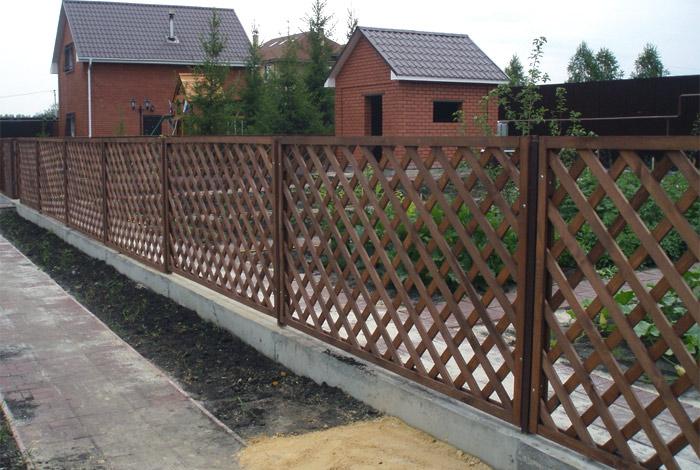 Деревянный забор своими руками решетка
