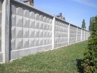 Монолитный железобетонный забор
